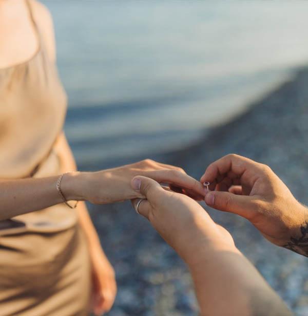 Bryllup på strand